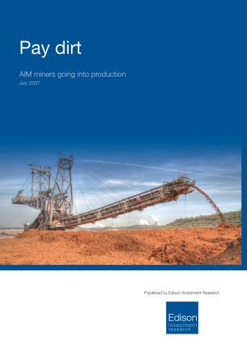 Edison Investment Research - Pay Dirt - Caledon Resources