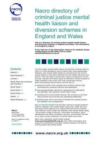 mental health disorders in the criminal justice 2009-1-5 mental health and criminal justice a review of the relationship between mental disorders and offending behaviours and on the management of mentally.