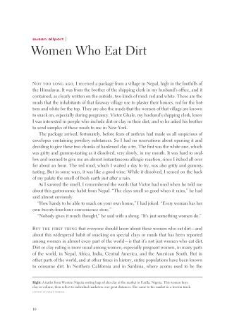 Women Who Eat Dirt - University of California Press