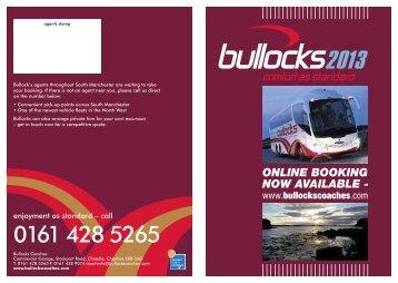 0161 428 5265 - Bullocks Coaches