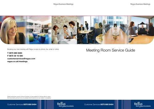 Meeting Room Service Guide - MyRegus