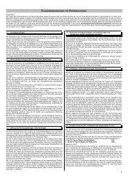 Teilnahmebedingungen (AGB) - Spatzennest