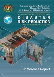 Kuala Lumpur Declaration on Disaster Risk Reduction in - Universiti ...