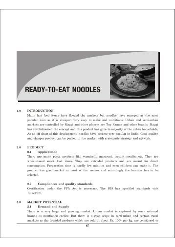ready to eat case study An integrated approach to food quality and safety: a case study in the  assurance that the product is safe to eat and that the food is sanitary.