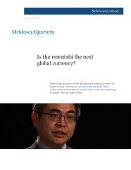 Is the Renminbi the Next Global Currency, McKinsey - Columbia ...