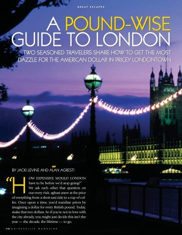 a pound-wise guide to london a pound-wise guide to london a ...