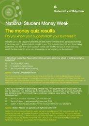 The money quiz results - staffcentral