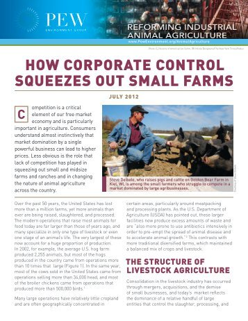 How Corporate Control Squeezes Out Small Farms (PDF - Pew ...