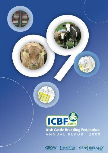 Irish Cattle Breeding Federation ANNUAL REPORT 2009 - ICBF