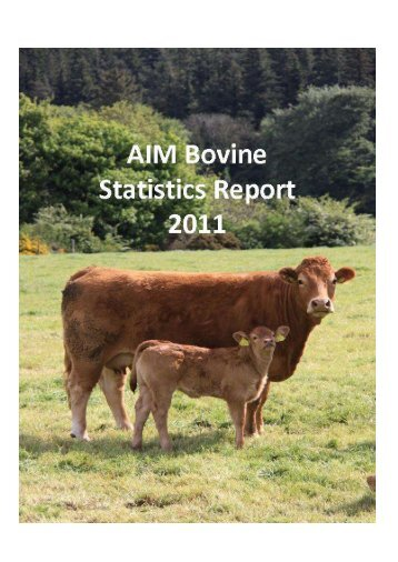 AIM Bovine Statistics Report 2011 - Department of Agriculture