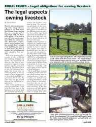 The legal aspects owning livestock - Small Farms Magazine