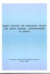 draft report on breeding policy for dairy animal improvement in bihar
