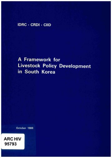 a framework for livestock policy development in south korea