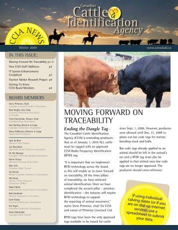 Winter 2009 Newsletter - Canadian Cattle Identification Agency