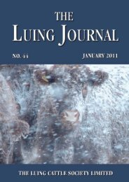 Luing Journal 2011 - Part 1 - Luing Cattle Society