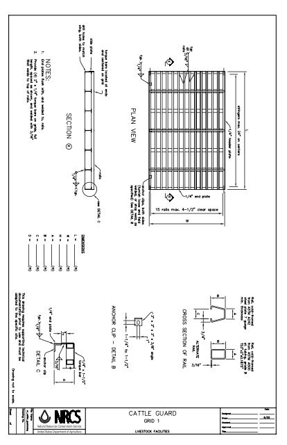 C Home Cad Drawings C Livestock Facilities C Cattle Guards