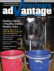 Healthy Calves = Healthy Dairies, Healthy Sales - Vet-Advantage
