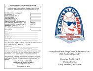 Australian Cattle Dog Club Of America, Inc . 29th National Specialty ...