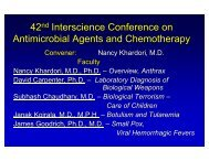 View Dr. Nancy Khardori's Presentation on Bioterrorism