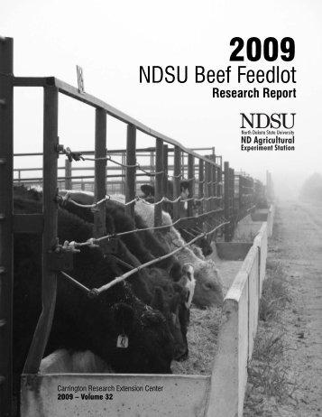 NDSU Beef Feedlot - NDSU Agriculture - North Dakota State ...