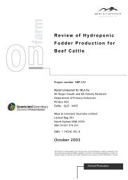Review of Hydroponic Fodder Production for Beef Cattle