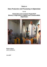 Dairy Production and Processing in Afghanistan - Animal Health ...