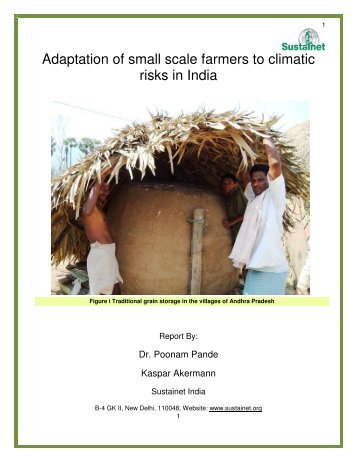 Adaptation of small scale farmers to climatic risks in India - Sustainet