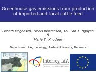 Greenhouse gas emissions from production of imported and ... - Inra
