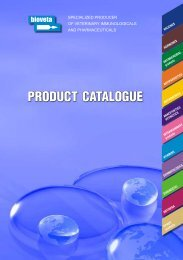 PRODUCT CATALOGUE - Bioveta