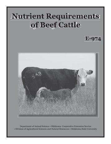 Nutrient Requirements of Beef Cattle - Oklahoma State University