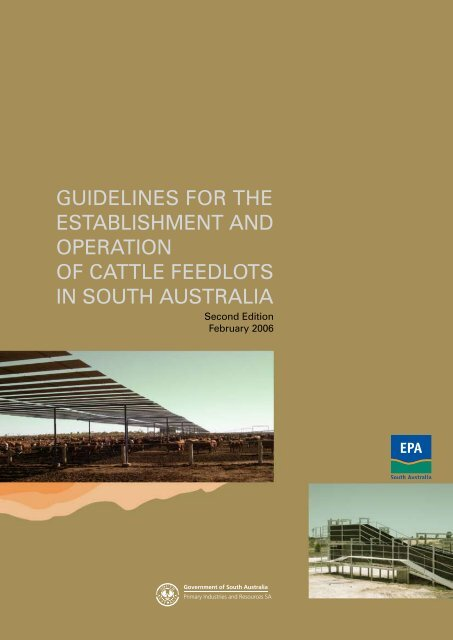 Guidelines for Establishment and Operation of Cattle Feedlots in ...