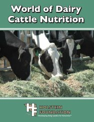 World of Dairy Cattle Nutrition - the Holstein Foundation