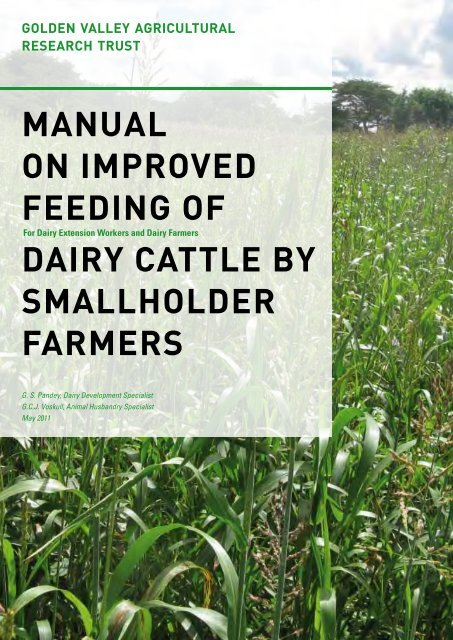 MANUAL ON IMPROVED FEEDING OF DAIRY CATTLE BY ... - Gart