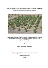 Effects of Organic and Inorganic Fertilizers on Growth - KOBRA ...