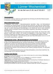 Lünner Wochenblatt Nr 20 vom 21 05-27 05