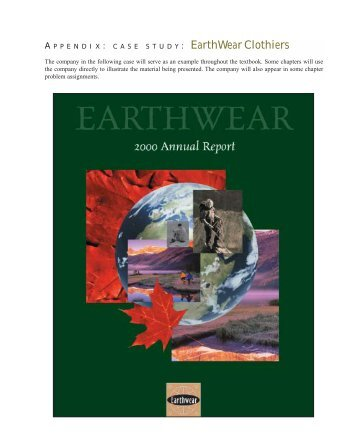 : EarthWear Clothiers - McGraw-Hill Ryerson