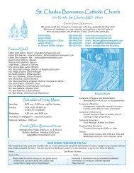 St. Charles Borromeo Catholic Church - Download Parish Bulletin