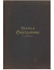 Textile Calculations