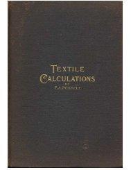 Textile Calculations