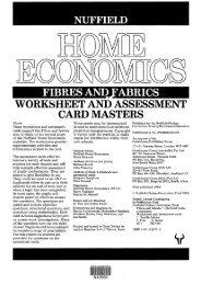 worksheet and assessment card masters - National STEM Centre
