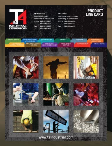 PRODUCT LINE CARD - T&A Industrial