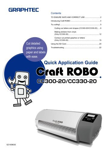 Quick Application Guide (PDF 8630KB) - Graphtec Corporation