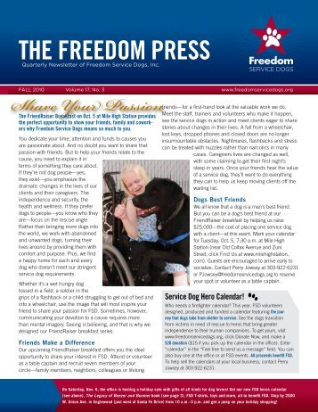 THE FREEDOM PRESS - Freedom Service Dogs