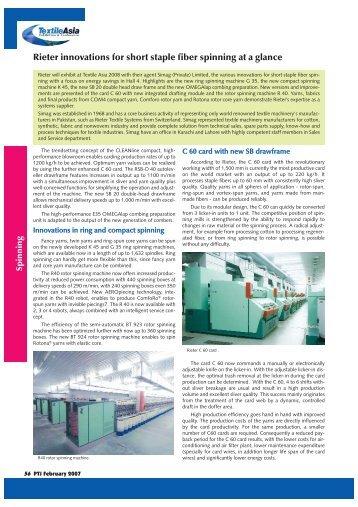 56-57-Spinning + TA - Rieter:Spinning.qxd - Pakistan Textile Journal