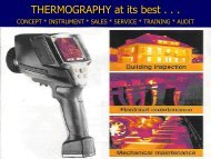 THERMOGRAPHY at its best . . . - Energy Manager Training