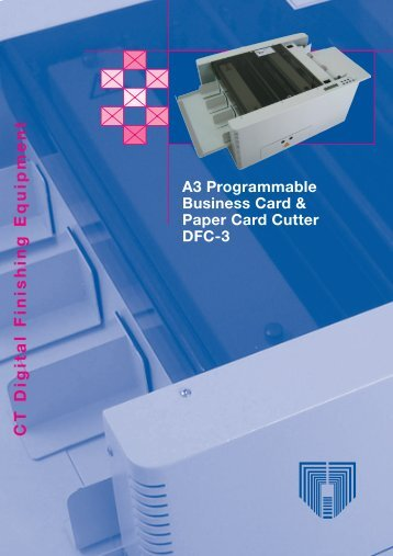 A3 Business Card Cutter DFC-3 - CT Graphic Services