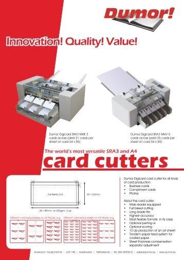 Card cutters - dumor.eu