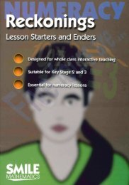 Numeracy: reckonings - lesson starters and enders - National STEM ...