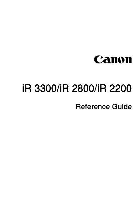 IR 3300 IR 2800 IR 2200 Canon Download Centre