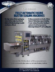 Fully Automatic Inline Blister Packaging Machines - Starview ...